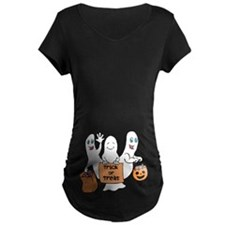 Cute Ghosts - Trick or Treat Maternity T-Shirt