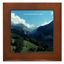 Lauterbrunnen Valley from Wengen, Swit Framed Tile