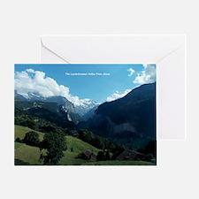 Lauterbrunnen Valley from Wengen, Sw Greeting Card