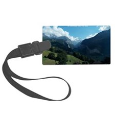 Lauterbrunnen Valley from Wengen Luggage Tag