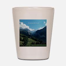 Lauterbrunnen Valley from Wengen, Switz Shot Glass