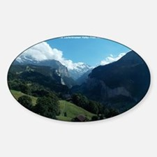 Lauterbrunnen Valley from Wengen, S Sticker (Oval)