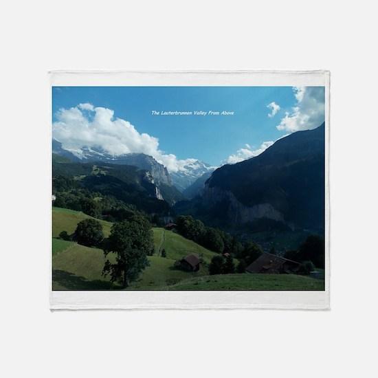 Lauterbrunnen Valley from Wengen, Sw Throw Blanket