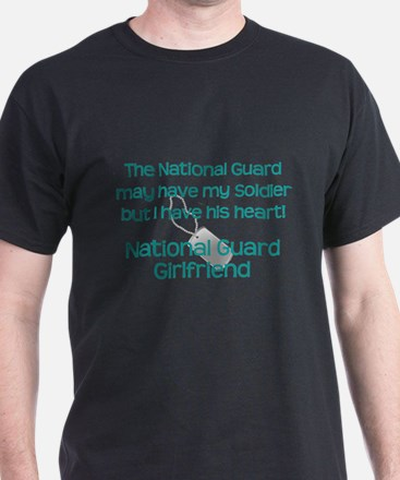 National Guard Girlfriend Heart T-Shirt