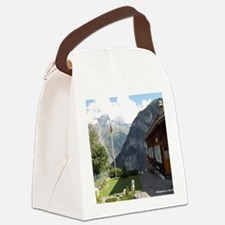 The View From Gimmelwald Canvas Lunch Bag