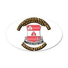 Army - 815th Engineer Bn Oval Car Magnet