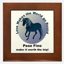 Paso Fino Worth the Trip! Framed Tile