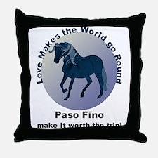 Paso Fino Worth the Trip! Throw Pillow