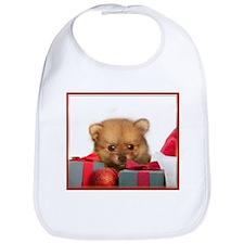 Christmas Pomeranian Puppy Bib