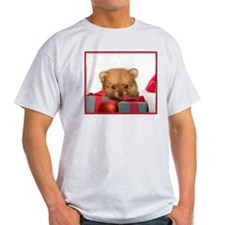 Christmas Pomeranian Puppy T-Shirt
