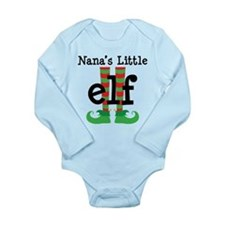 Nana's Little Elf Long Sleeve Infant Bodysuit