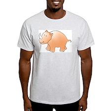 Orange Rhino Ash Grey T-Shirt