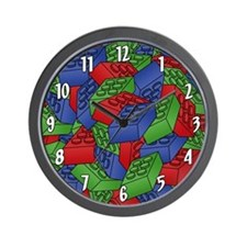 Pile of Building Blocks Wall Clock