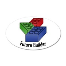 Future Builder 22x14 Oval Wall Peel
