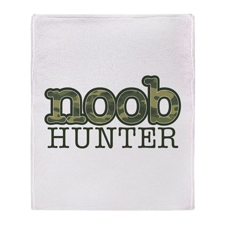 noob hunter Throw Blanket