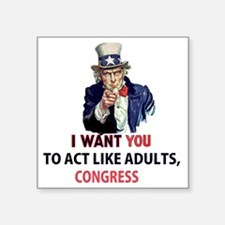"""Uncle Sam: I Want You to Ac Square Sticker 3"""" x 3"""""""