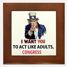 Uncle Sam: I Want You to Act Like Adul Framed Tile