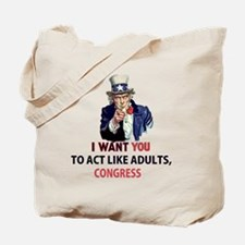 Uncle Sam: I Want You to Act Like Adults, Tote Bag