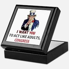 Uncle Sam: I Want You to Act Like Adu Keepsake Box