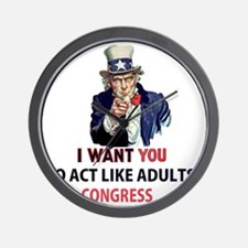 Uncle Sam: I Want You to Act Like Adult Wall Clock