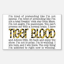 Tiger Blood Sticker (Rectangle)