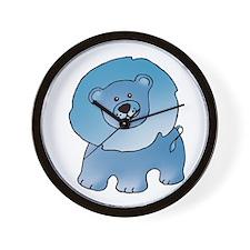 Blue Lion Wall Clock