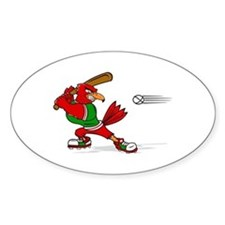 Angry Cardinal Batter Decal