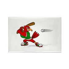 Angry Cardinal Batter Magnets