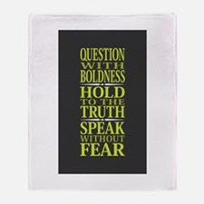 Question With Boldness Throw Blanket
