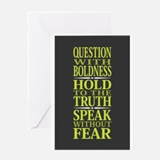Question With Boldness Greeting Card