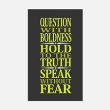 Question With Boldness Decal