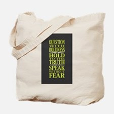Question With Boldness Tote Bag