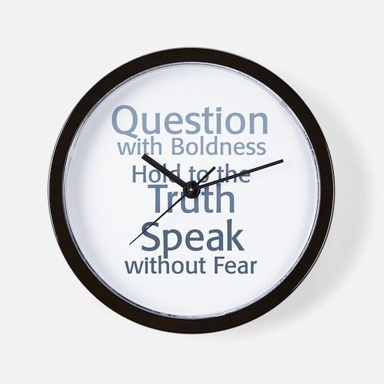 Question Speak Truth Wall Clock