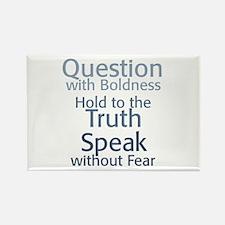 Question Speak Truth Rectangle Magnet