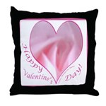 Pink Rose in Heart, Valentine Throw Pillow