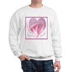 Pink Rose in Heart, Valentine Sweatshirt