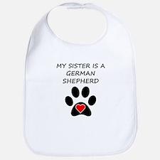 German Shepherd Sister Bib