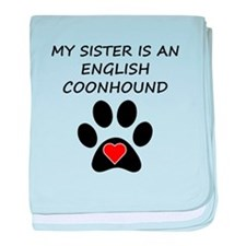 English Coonhound Sister baby blanket