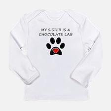 Chocolate Lab Sister Long Sleeve T-Shirt