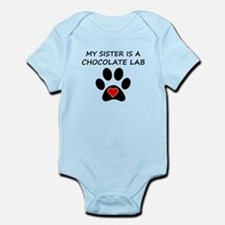 Chocolate Lab Sister Body Suit