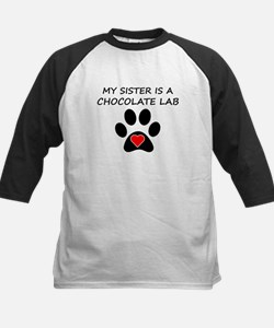 Chocolate Lab Sister Baseball Jersey