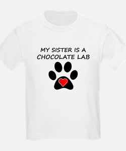 Chocolate Lab Sister T-Shirt