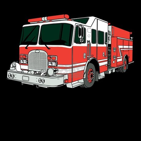 Red Fire Truck pajamas by FirefighterGifts