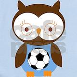 Soccer owl Baby Bodysuits
