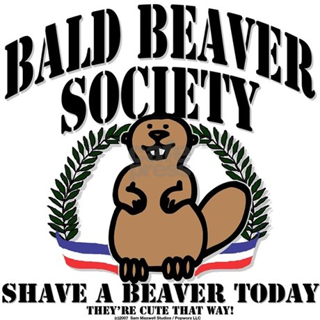 Bald Beaver Society Rectangle Magnet by getteez