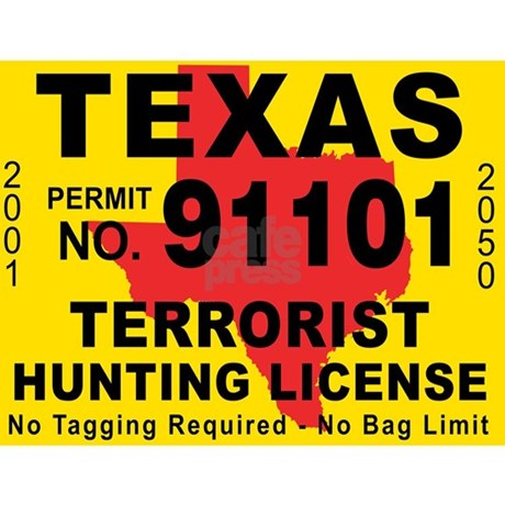 Terrorist hunting license xl tx mug by admin cp2812087 for Fishing license in texas