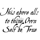 This above all to thine own self be true Wall Decals