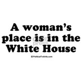 A woman s place is in the white house Aprons