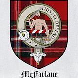 Mcfarlane family tartan Bib