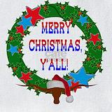 Texas longhorn christmas Bib